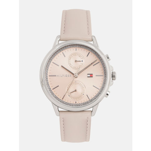 Tommy Hilfiger Women Pink Embellished Analogue Watch TH1781914W