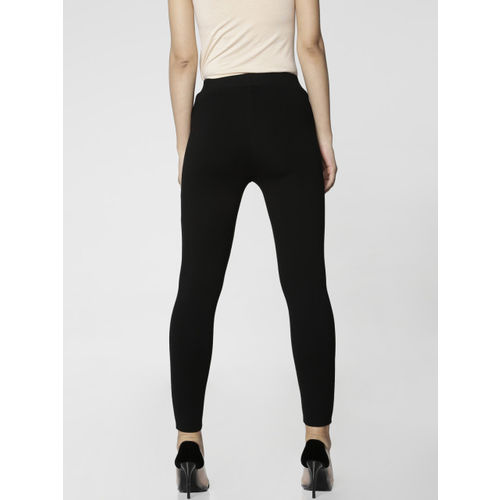 ONLY Women Black Solid Treggings