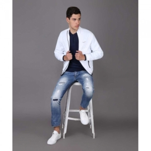 Pepe Jeans White Polycotton Full Sleeve Solid Jacket