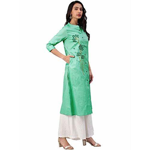 Alena Cotton Women Casual wear Kurta in Green Colour Size S to XXL