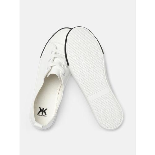 Kook N Keech Women White Sneakers