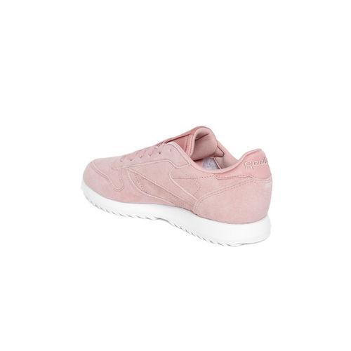 Reebok Classic Women Pink Ripple Leather Sneakers