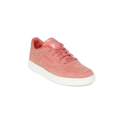 Reebok Classic Women Pink Suede Club C 85 Sneakers