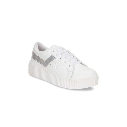 Kielz Women Silver-Toned Sneakers