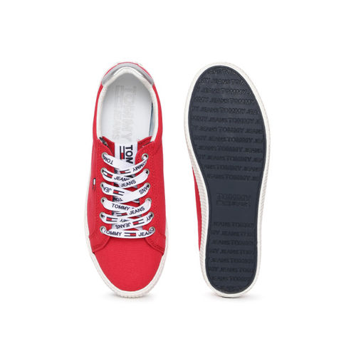 Tommy Hilfiger Women Red Sneakers