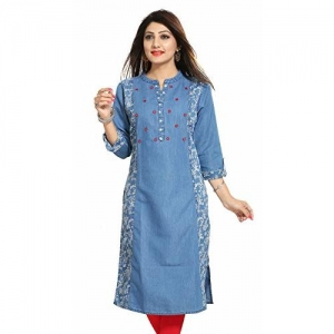Meher Impex Denim Printed Long Women's Kurti