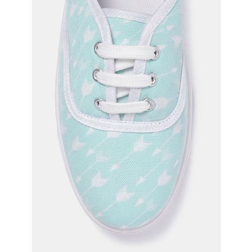 DressBerry Women Sea Green Printed Sneakers