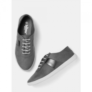 Roadster Grey Synthetic Sneakers For Women