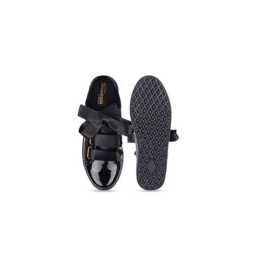 Shoetopia Women Black Sneakers