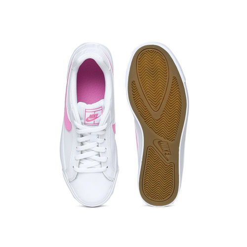 Nike Women COURT ROYALE AC White Leather Sneakers