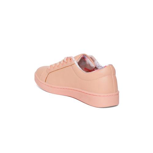 Allen Solly Women Peach-Coloured Sneakers