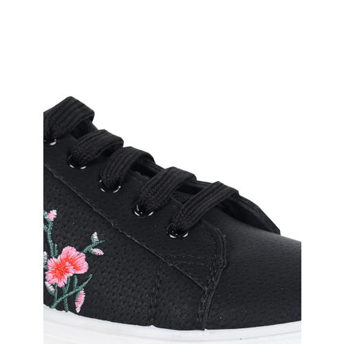 Berry Purple Women Black Sneakers
