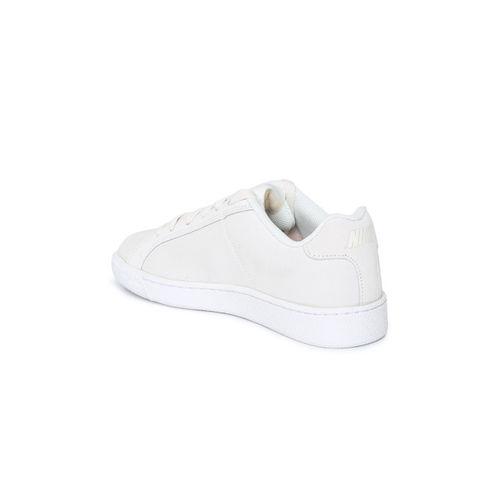 Nike Women White COURT ROYALE PREM Leather Sneakers