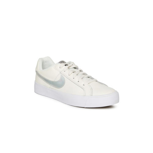 Nike Women White Court Royale AC Leather Sneakers