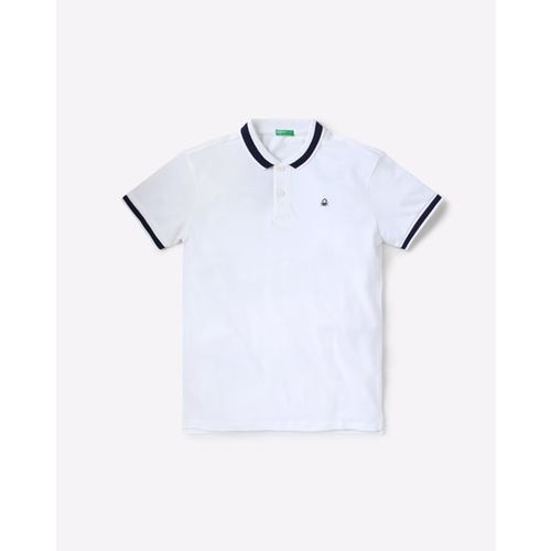 UNITED COLORS OF BENETTON Polo T-shirt with Vented Step Hem