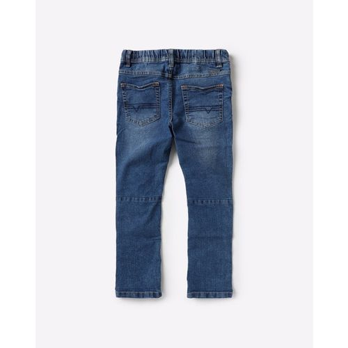 KB TEAM SPIRIT Mid-Rise Washed Jeans with Insert Pockets