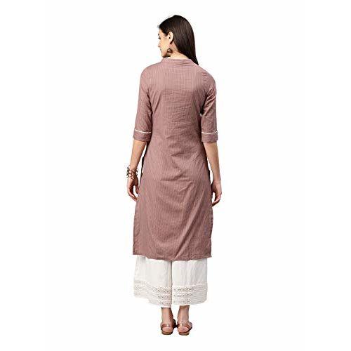 Alena Women Casual Kurta in Brown Color