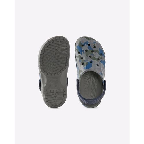 CROCS Camo Print Slingback Clogs with Vents