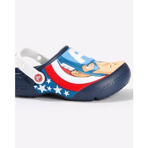 CROCS Captain America Print Slingback Clogs