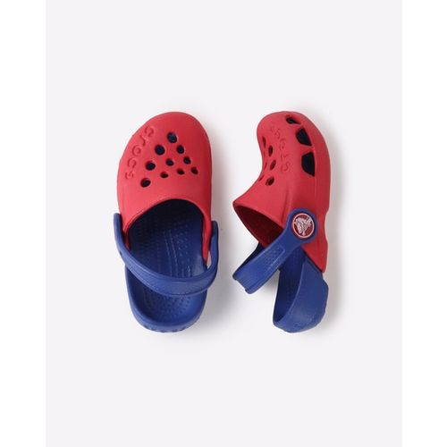 CROCS Electro Colourblock Clogs with Slingback Strap