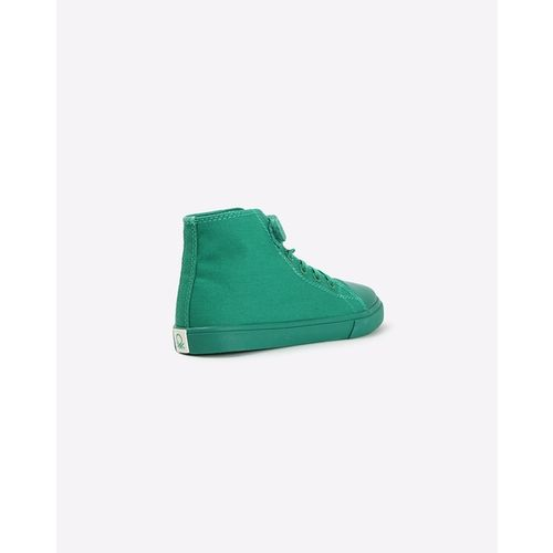 UNITED COLORS OF BENETTON High-Top Lace-Up Sneakers with Velcro Fastening