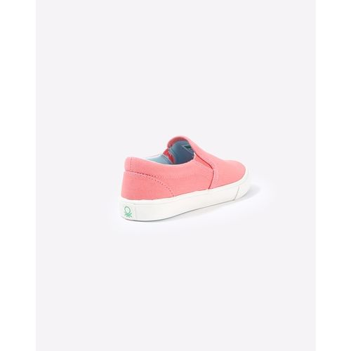 UNITED COLORS OF BENETTON Canvas Slip-Ons with Contrast Sole