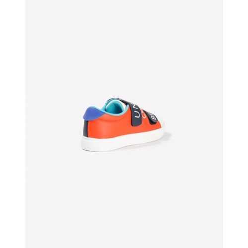 UNITED COLORS OF BENETTON Colourblock Low-Top Sneakers with Velcro Closure