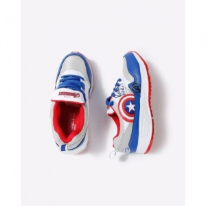 toothless Captain America Print Lace-Up Sports Shoes