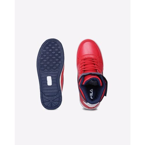 FILA Panelled Lace-Up High-Top Outdoor Shoes