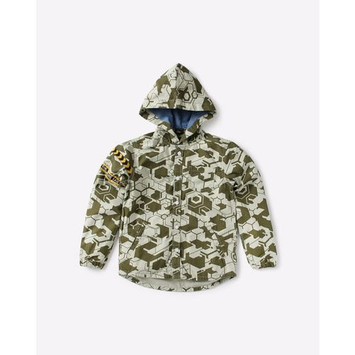 KB TEAM SPIRIT Geometric Print Hooded Shirt