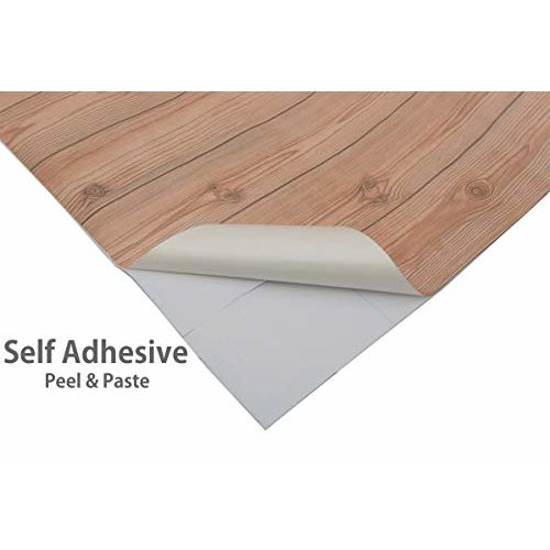 Store2508 Textured Self Adhesive Sticker Wallpaper, Wooden Planks Design. Full Roll (0.53 * 10 Metre, 57 Square Feet).