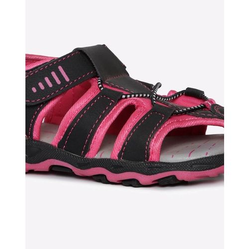 HI-ATTITUDE Panelled Sandals with Velcro