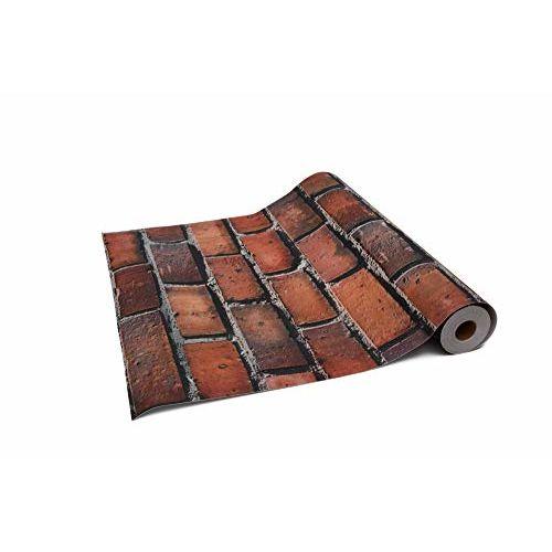 Store2508 Premium Textured Self Adhesive Sticker Wallpaper, Red Bricks Design. (0.53 * 5 Metre, 28.5 Square Feet).