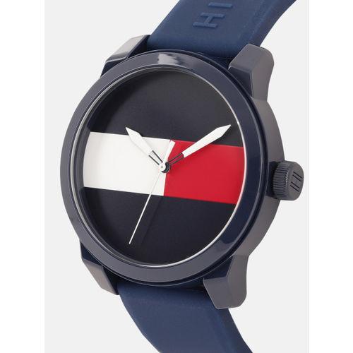 Tommy Hilfiger Men Navy Blue & White Analogue Watch TH1791322W
