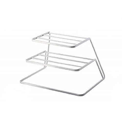 NAOE White Stainless Steel Plate Stand ( Rack)