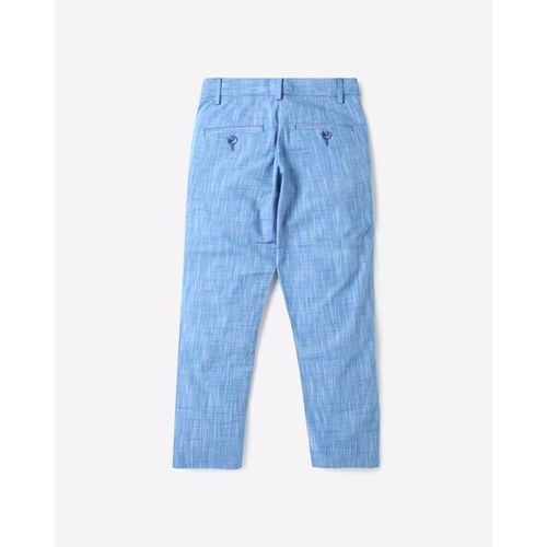 UNITED COLORS OF BENETTON Heathered Mid-Rise Flat Front Trousers with Insert Pockets