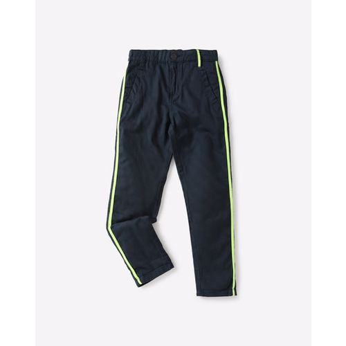 KB TEAM SPIRIT Slim Cotton Trousers with Contrast Taping