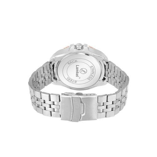 Lamkei Men White Analogue Chronograph Watch LAM-1078