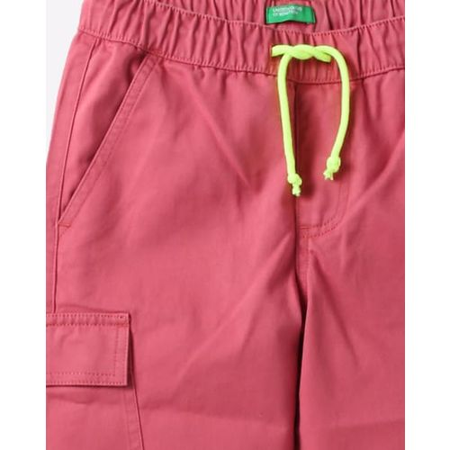 UNITED COLORS OF BENETTON Mid-Rise Joggers with Cargo Flap Pocket