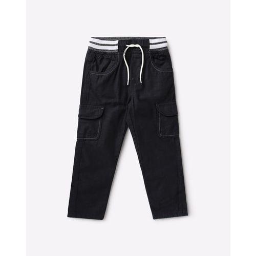 KB TEAM SPIRIT Slim Fit Cargo Trousers with Drawstring Waist