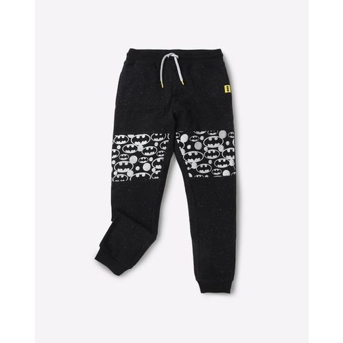 Warner Brothers Speckled Batman Pattern Mid-Rise Joggers