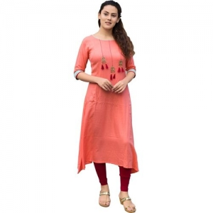 peacockfashion Festive & Party Embellished Women Kurti(Orange)
