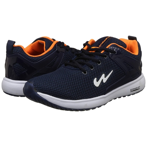 Campus Blue Mesh Lace Up Running Shoes