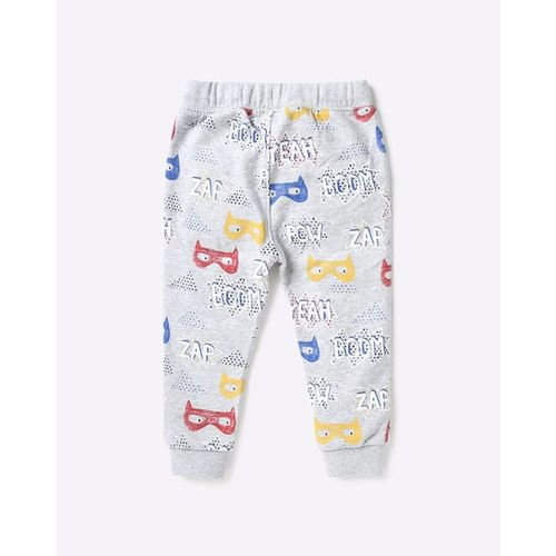 Marks & Spencer Typographic Print Joggers with Drawstring Fastening