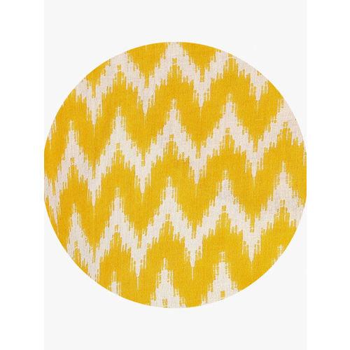 Sangria Women Yellow & White Printed Straight Kurta
