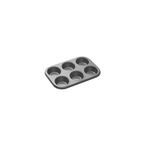 Generic Black Aluminium 6-Slot Nonstick Muffin Tray/ Cupcake Pan (8944714646487AMT6)