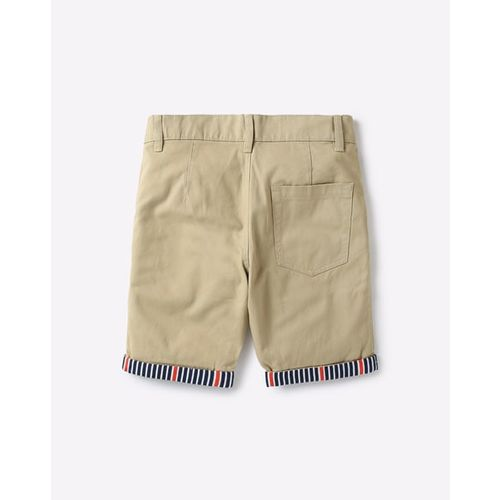 UNITED COLORS OF BENETTON Mid-Rise Flat-Front Shorts