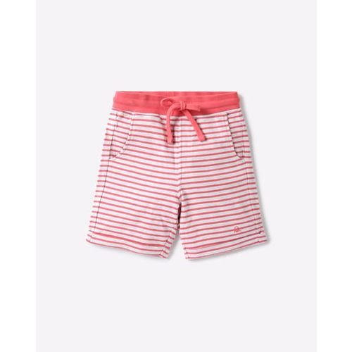 UNITED COLORS OF BENETTON Striped Shorts with Drawstring Fastening