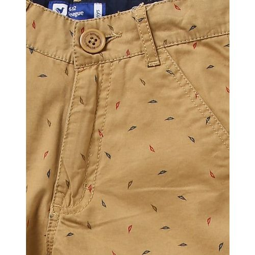 612 League Printed Flat-Front Shorts with Insert Pockets
