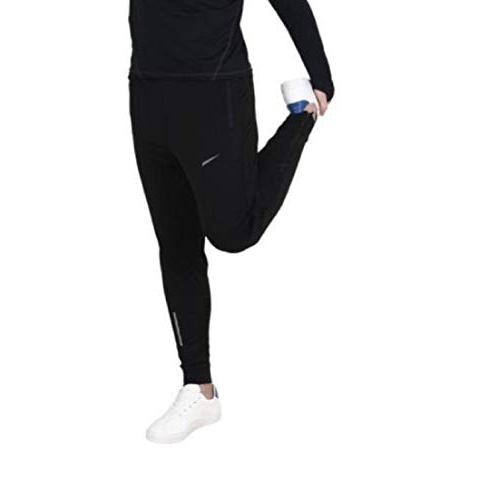FINZ Black Two Side Zipper Pocket Trackpants For Men